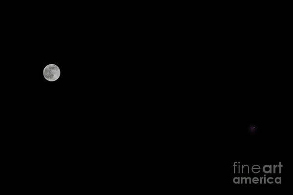 Photograph - Moon And Mars by Dale Powell
