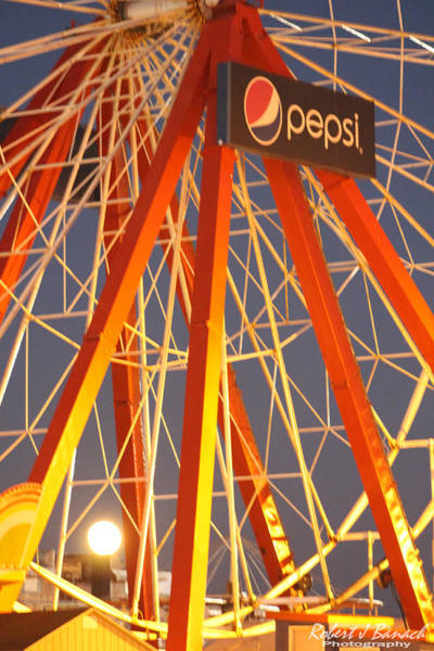 Photograph - Moon And The Ferris Wheel by Robert Banach