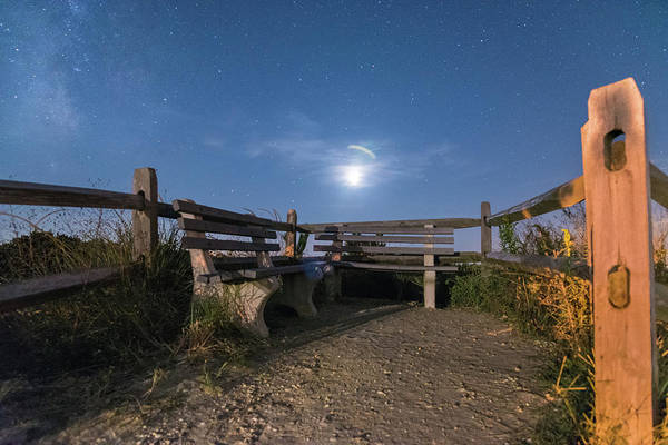 Photograph - Moon Bench by Kristopher Schoenleber