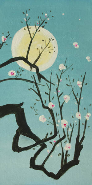 Painting - Moon Blossoms by Richard Fritz