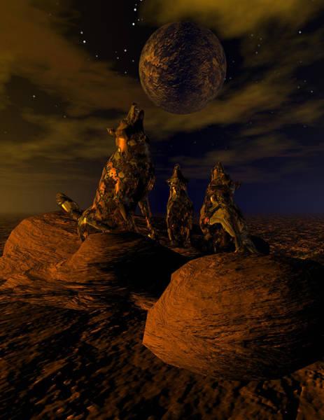 Bryce Digital Art - Moon Chorus by Claude McCoy