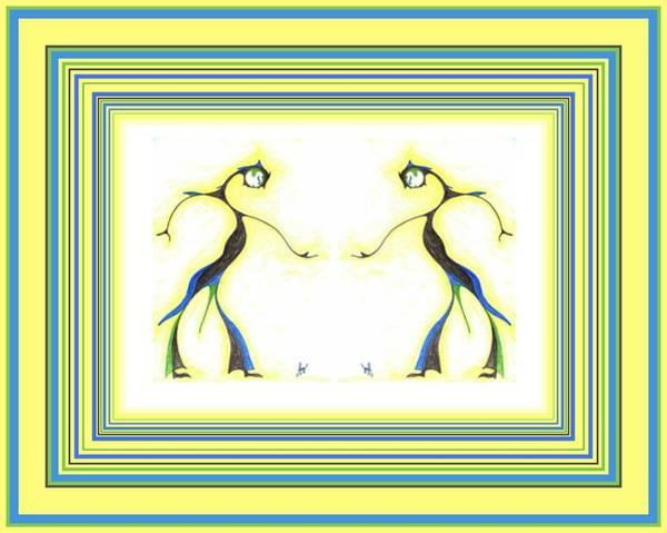 Drawing - Moon Dancer Pair by Julia Woodman