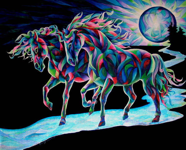 Painting - Moon Dancers by Sherry Shipley