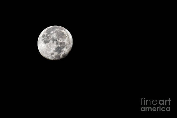 Photograph - Moon Detail Seen On A Beautiful West Virginia Night 8593bw by Cynthia Staley