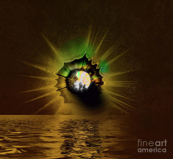Wall Art - Photograph - Moon Explosion by Elaine Hunter