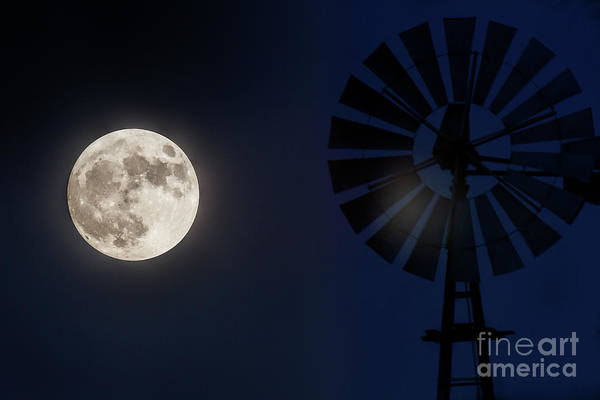 Photograph - Moon Flare by Jim Garrison