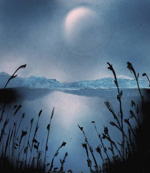 Strange Land Painting - Moon Fog by Nandor Molnar