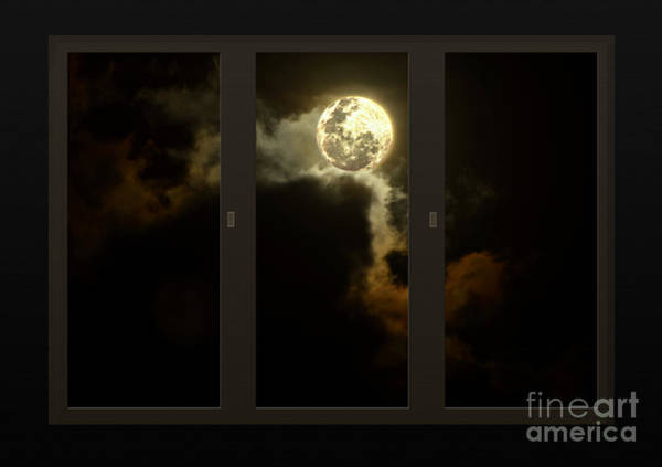 Wall Art - Photograph - Moon From My Living Room by Kaye Menner