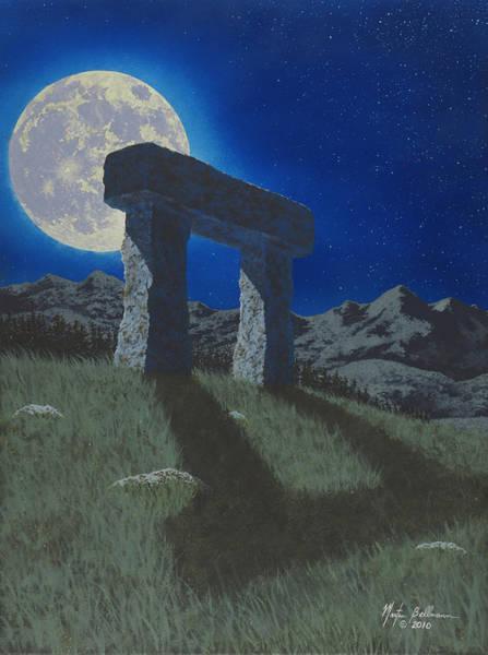 Gateway Painting - Moon Gate by Martin Bellmann
