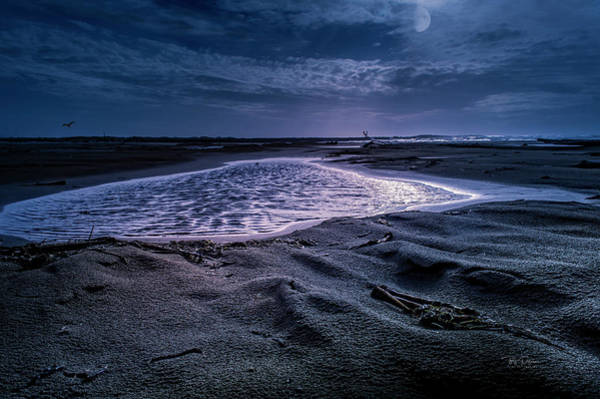 Photograph - Moon Glow Seascape by Bill Posner