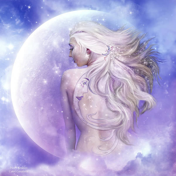 Mixed Media - Moon Goddess by Carol Cavalaris