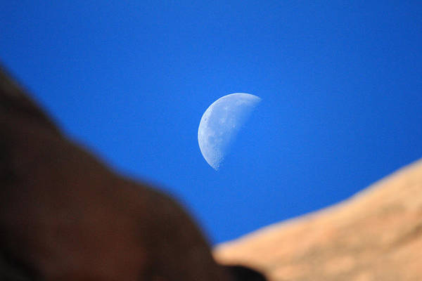 Photograph - Moon In Arches National Park by Pierre Leclerc Photography