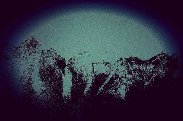 Moon In The Mountains Art Print
