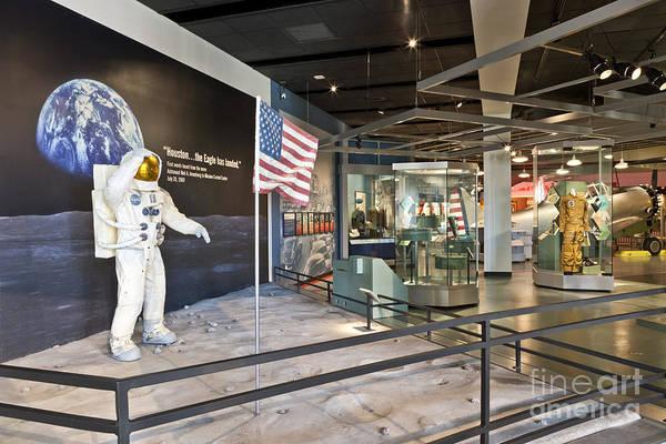 Bullock Texas State History Museum Photograph - Moon Landing Exhibit by Inga Spence