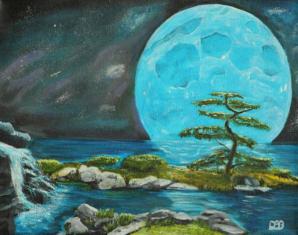 Star Formation Painting - Moon Light Dreams by David Bigelow
