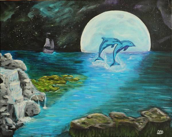 Star Formation Painting - Moon Light Swim  by David Bigelow