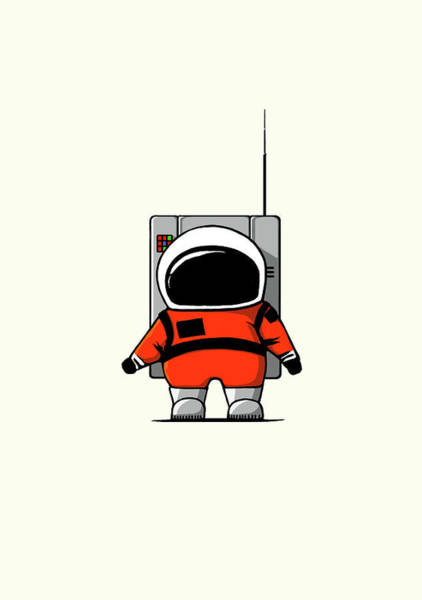 Cosmonaut Wall Art - Digital Art - Moon Man by Nicholas Ely