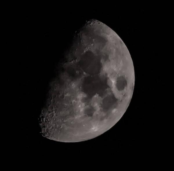 Shutter Speed Photograph - Moon by Martin Newman