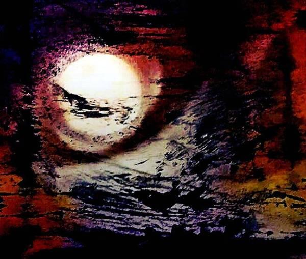 Michael Ferguson Wall Art - Painting - Moon  by Michael Ferguson