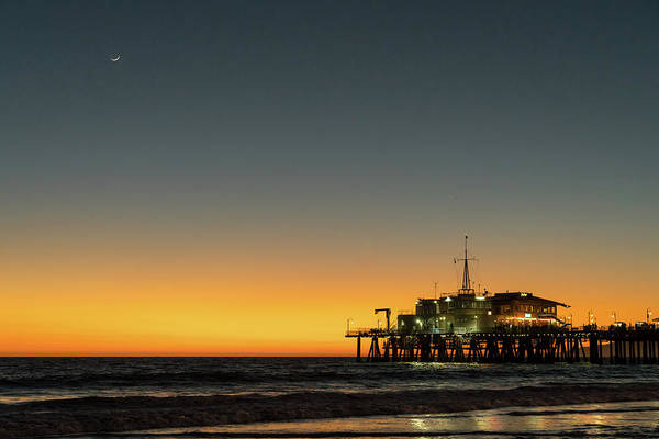Photograph - Moon On Jetty  by Michael Hope