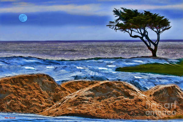 Photograph - Moon Over 17 Mile Drive  by Blake Richards