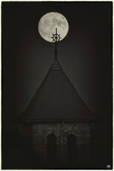 Photograph - Moon Over Bell Tower by John Meader