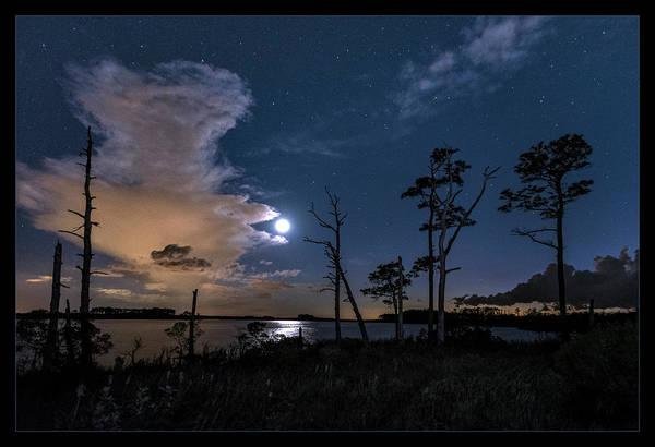 Blackwater Wall Art - Photograph - Moon Over Blackwater by Robert Fawcett