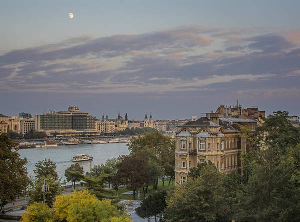 Photograph - Moon Over Budapest by Joan Carroll