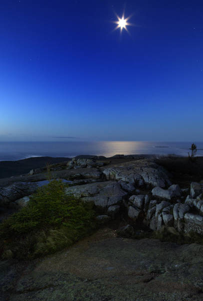 Acadia National Park Wall Art - Photograph - Moon Over Cadillac by Rick Berk
