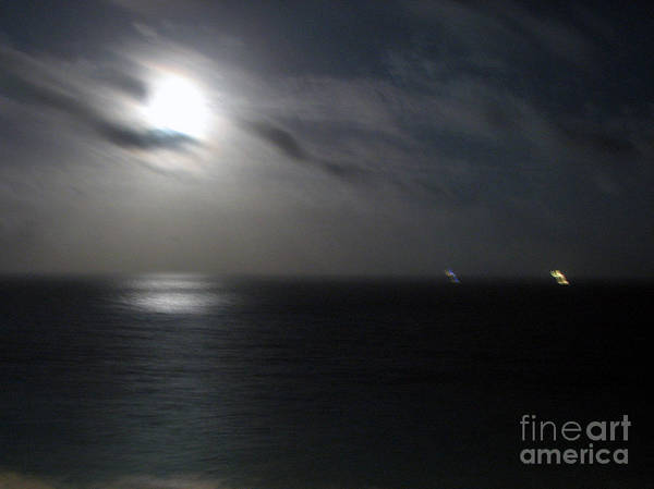 Photograph - Ships Passing In The Night by Rick Locke