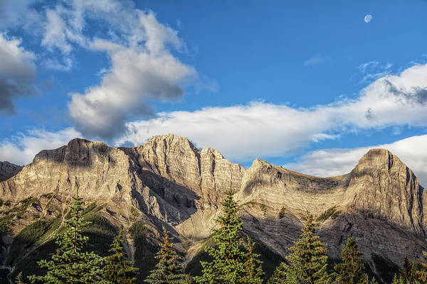 Photograph - Moon Over Canmore Alberta by Joan Carroll