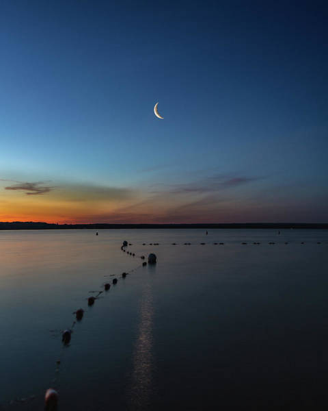 Photograph - Moon Over Cayuga by Rod Best