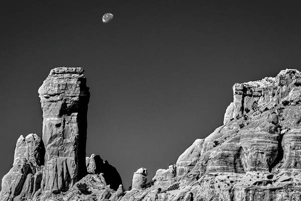 Photograph - Moon Over Chimney Rock by Stuart Litoff