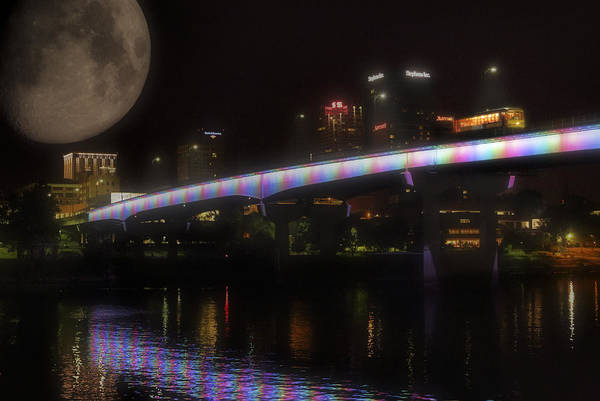 Photograph - Moon Over Downtown Little Rock - Arkansas - Luna by Jason Politte