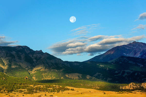 Expanse Photograph - Moon Over Electric Mountain by Todd Klassy