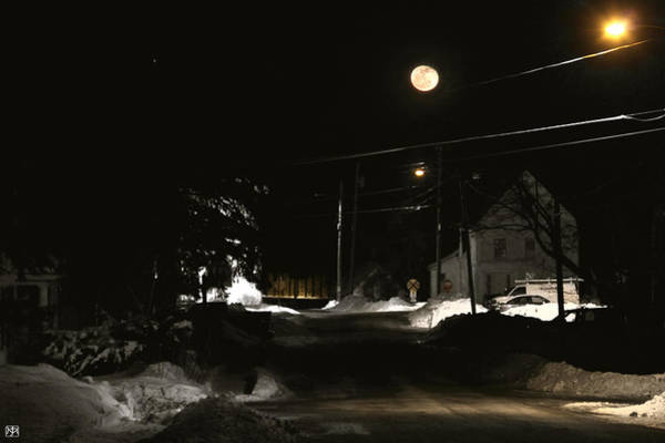 Photograph - Moon Over Elm Street by John Meader