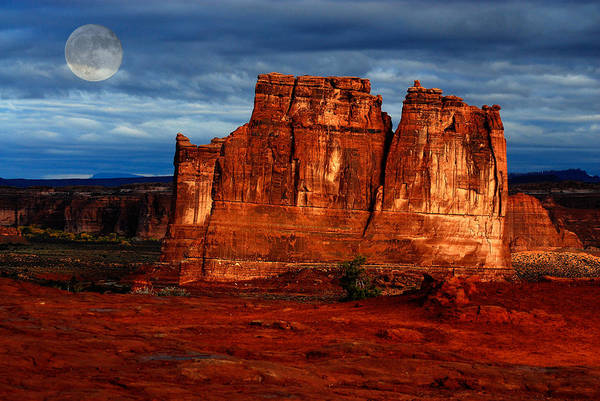 Photograph - Moon Over La Sal by Harry Spitz