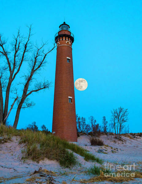 Photograph - Moon Over Little Sable by Nick Zelinsky