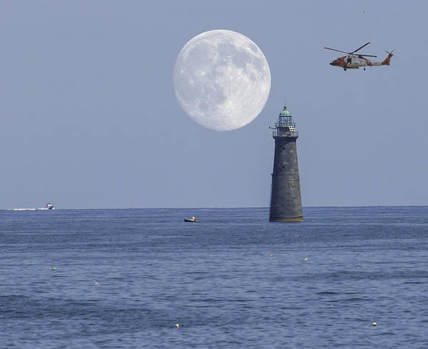 Photograph - Moon Over Minot Lighthouse by Brian MacLean