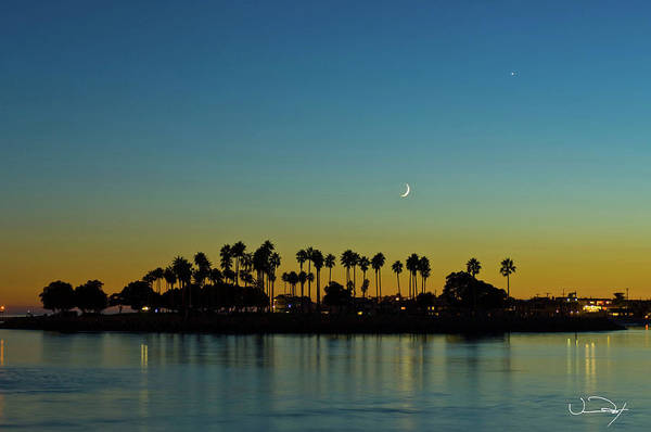 Misson Photograph - Moon Over Misson Bay San Diego by Vance Fox
