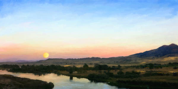 Painting - Moon Over Montana by Susan Kinney
