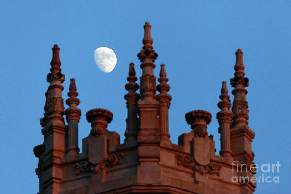 Photograph - Moon Over Palace Of Communication Madrid by James Brunker