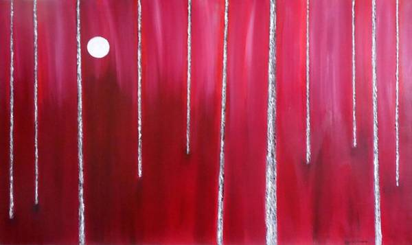 Don Williams Painting - Moon Over Red Forest by Don Williams