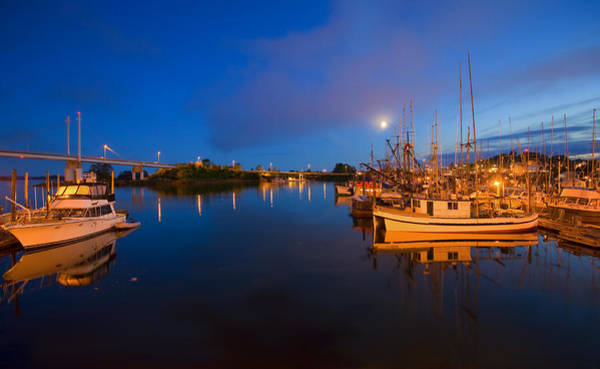 Wall Art - Photograph - Moon Over Sitka Marina by Mike  Dawson