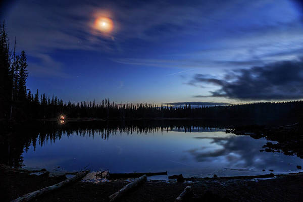 Wall Art - Photograph - Moon Over Sparks Lake by Cat Connor