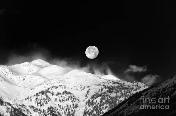 Photograph - Moon Over The Alps by Silvia Ganora