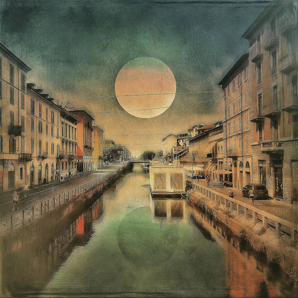 Photograph - Moon Over The Canal by Roberto Pagani