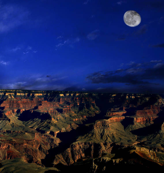 Photograph - Moon Over The Canyon by Anthony Jones