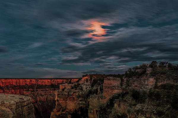 Photograph - Moon Over The Canyon by John M Bailey