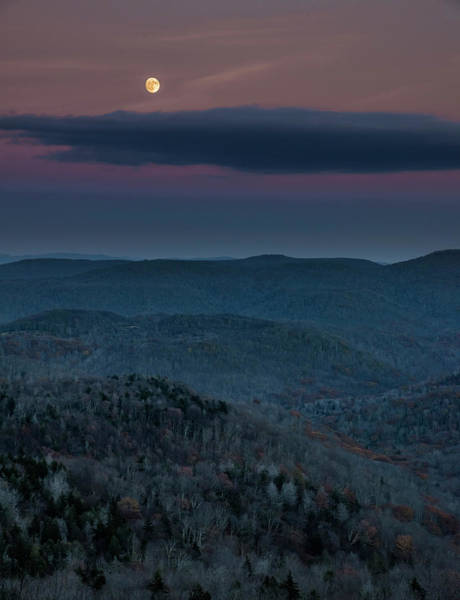 Photograph - Moon Over The Monongahela National Forest by Andy Crawford